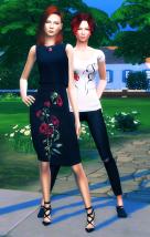Уна с мамой